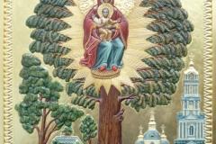 Елецкая икона Божьей Матери, воссозданная по ризе с этой иконы в 2010г.