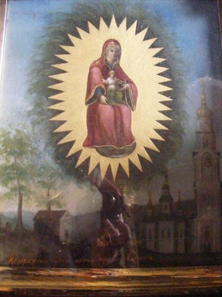 Список Елецкой иконы, реставрированной в Благовещенском соборе.